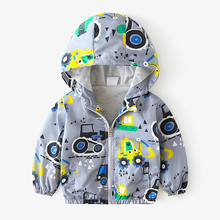 Childrens Outerwear Fall 2019 New BoysJackets Long Sleeve Thin Hooded Coat Baby Toddler Kids Clothes Factory Price Fit 2-6 Yrs