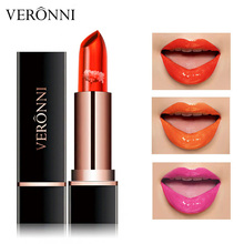 VERONNI 3 Color Long-lasting Jelly Flower Lipstick Makeup Temperature Changed Colorful Lip  Transparent цены онлайн