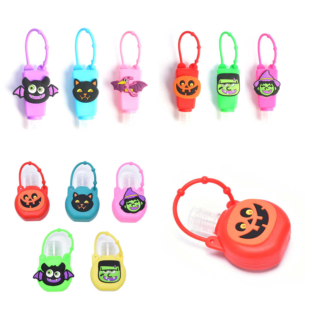 1PC 30ml Halloween noël Friut Silicone Mini main Gel support Portable sûr Gel support voyage shampooing savon distributeur bouteille