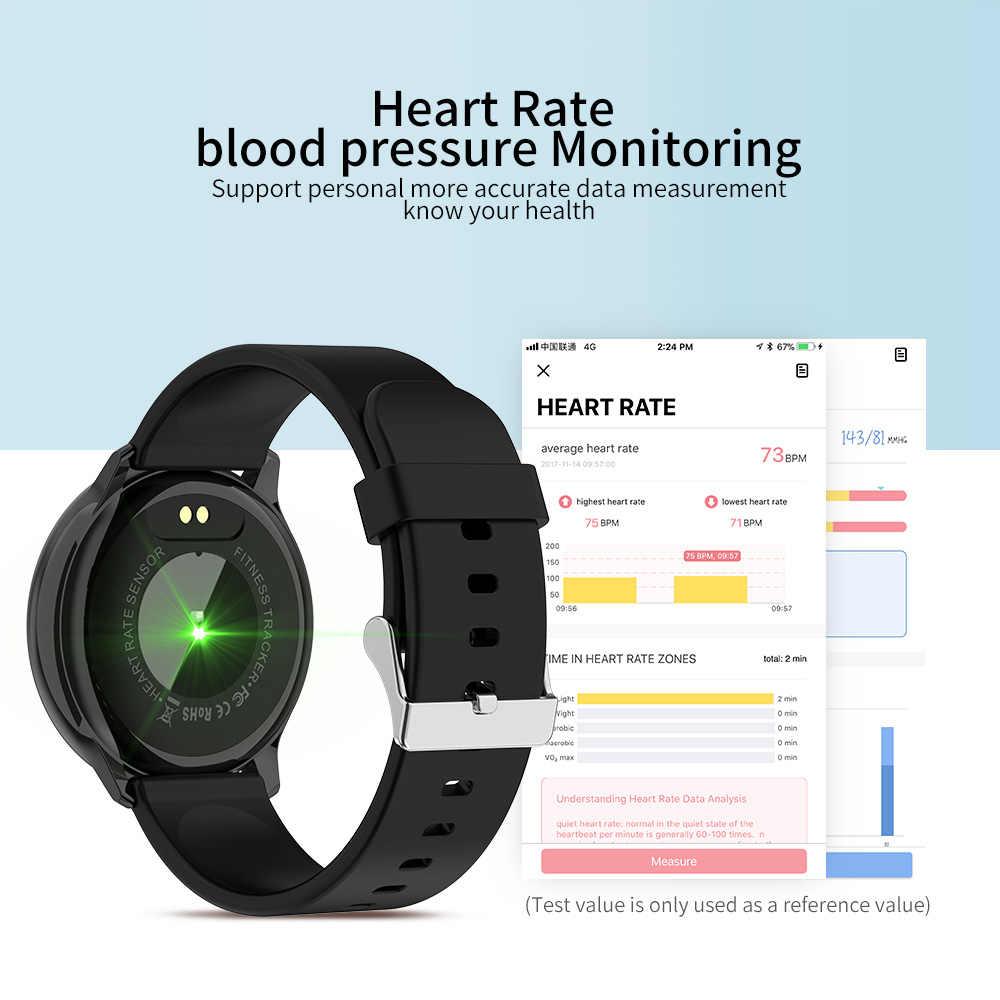 RUNDOING R7, женские Смарт-часы, 1,22 экран, водонепроницаемые, музыка, кровяное давление, монитор, кислород, мужские спортивные Смарт-часы, Android iOS часы