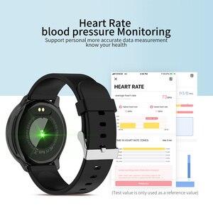 Image 3 - Rundoing relógio inteligente r7 esportivo, smartwatch com tela de 1.22, à prova d água, monitor de pressão sanguínea e oxigênio, para homens e mulheres, android e ios