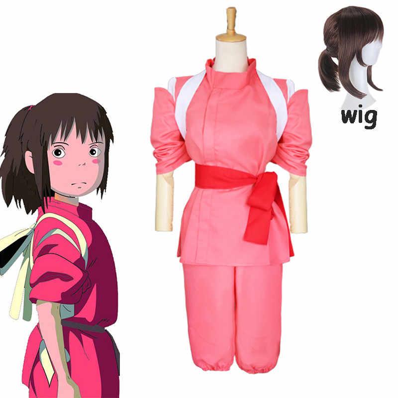2020 5pcs Anime Spirited Away Sen To Chihiro No Kamikakushi Ogino Chihiro Cosplay Costume Set And Wigs Women Halloween Cosplay Anime Costumes Aliexpress