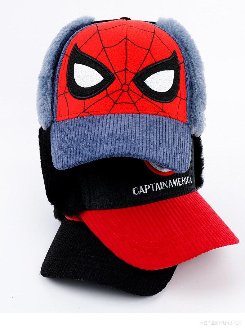 Disney homem-aranha chapéu infantil capitão américa meninos