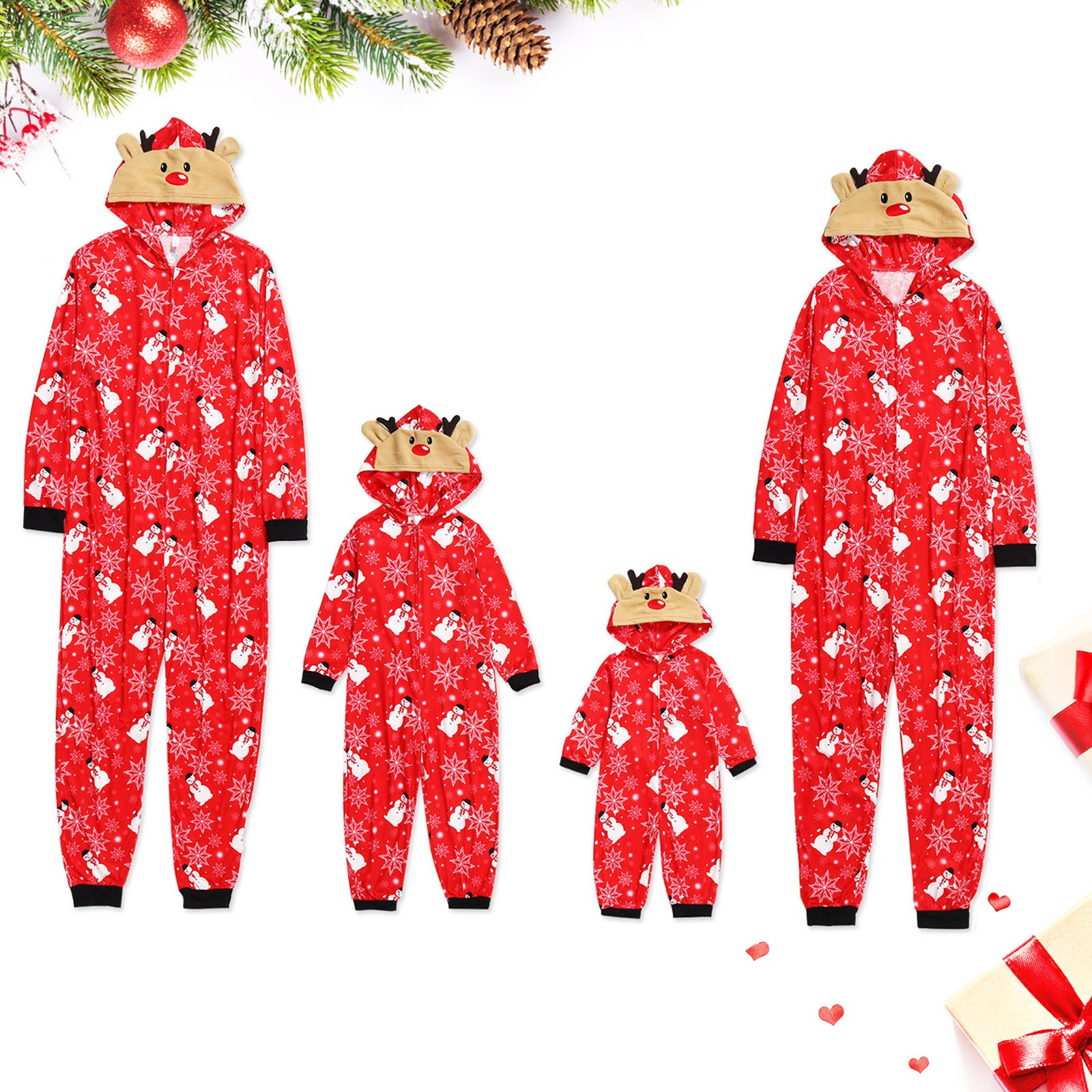Christmas 2020 Baby Romper Family Matching Clothes Pajamas Sleepwear Snowman christmas hoodie pijamas de navidad familiar
