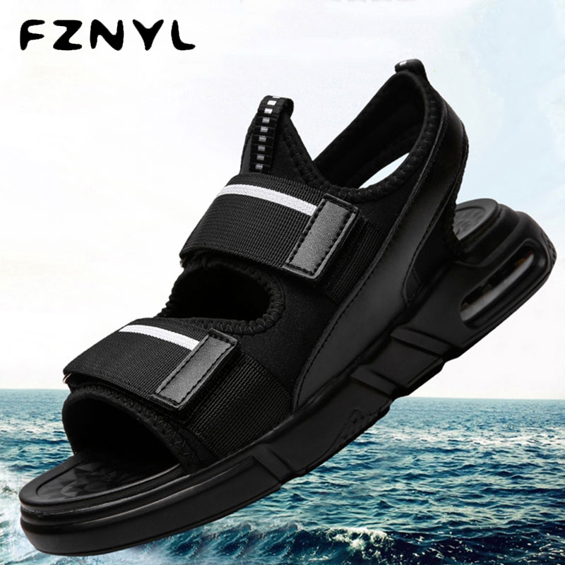 FZNYL Men Fashion Sandals Summer Comfortable Breathable Shoes Male Casual Simple Beach Sandalia Masculina Flip Flops Flat Sandal