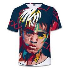 Nova chegada quente xxxtentacion 3d t camisa masculina/feminina moda streetwear hip hop estilo raper xxxtentacion impressão 3d camisa masculina