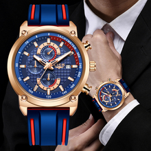 2019 LIGE New Mens Watches Top Brand Luxury Dial Clock Male Fashion Silicone Wat
