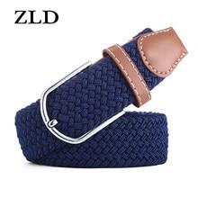 ZLD cinture elastiche in tela unisex da donna Casual elasticizzate per donna jeans cintura con fibbia ad ardiglione da modellistica 120-130CM