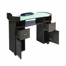 Meble do salonów stylizacji paznokci nowa generacja nowoczesnych komercyjnych stołów do paznokci sprzedawanych po niskich cenach i można je dostosować tanie tanio CN (pochodzenie) wood Meble do salonu Stół paznokci XY-1618W Meble komercyjne custom-made