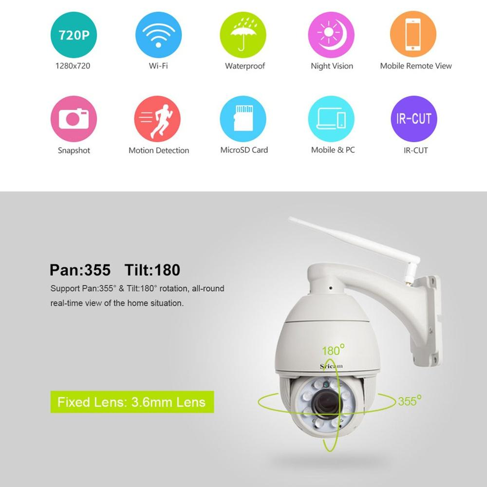 Wifi PTZ IP Camera 1080P 3MP 5MP Super HD 5X Zoom Two Way Audio Wireless PTZ Cam Outdoor 60m IR Video Home Security Camera P2P - 5