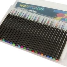 48 цветов акварельные кисти ручки художественные маркеры ручки для рисования раскраски манга каллиграфия школьные принадлежности канцелярские принадлежности
