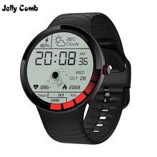Gelatina Pettine Degli Uomini di Sport di Smart Orologio Da Polso Impermeabile IP68 Frequenza Cardiaca Orologio Intelligente per Huawei ios Full Touch Bluetooth Smartwatch Pedometro