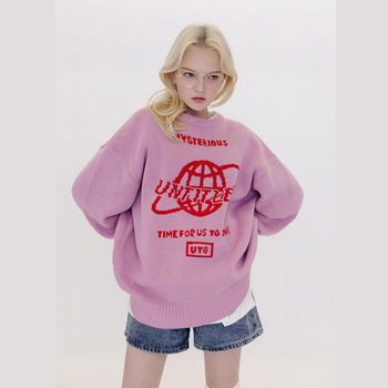 Sweater Women Harajuku Streetwear Knit Top Loose Long Sleeves Warm Autumn Winter Streetwear Fashion Girl Pullover Sweaters 1