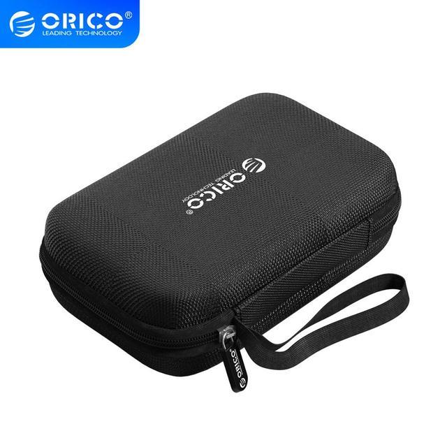 オリコ収納ケースバッグポータブルhdd保護袋イヤホンバッグための 2.5 ハードディスクケースusbケーブル電源銀行