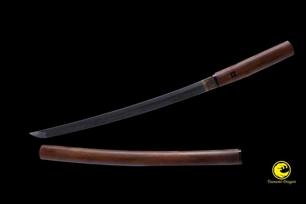 Clay Tempered Battle Ready Top Choji Shinogi Zukuri Blade Japanese Wakizashi Shirasaya Sword