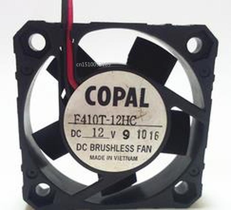 Genuine For COPAL F410T-12HC DC12V 2wire 2pin 4010 40x40x10mm Cooling Fan Free Shipping