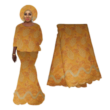 High Quality African French Tulle Lace For Bridal 2019 New Design Orange Color Grape Embroidery Nigerian Lace Fabric 2019