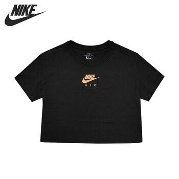 Original New Arrival NIKE AS W NSW TEE NIKE AIR TOP CROP Women's T-shirts short sleeve Sportswear
