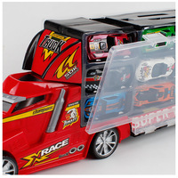 Hand Gift Box Container Storage Box Toy Tunnel Slide Car 12 of Metal Car Model Ornaments