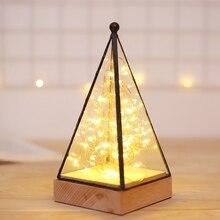 Nordic Fire Tree Silver Flower House Lamp Birthday Gift Christmas Creative Night Light