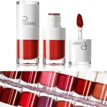Pudaier Matte Lip gloss Long Lasting White Bottle Waterproof Non-stick Velvet Soft Liquid Lipstick Sexy Smooth Plumper Lip Tint