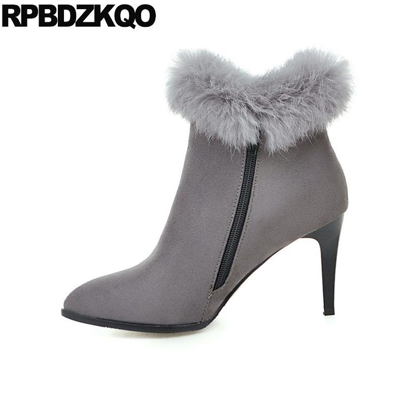 plus size gray booties ankle big suede