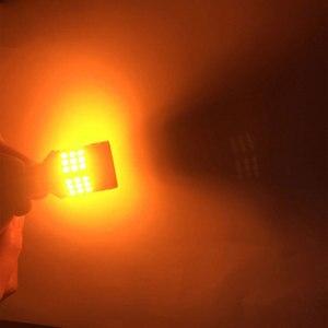 Image 5 - 2xno hyper flash 1156 ba15s p21w bau15s py21w t20 7440 lâmpada transformar a luz do sinal âmbar 12 24v 3030 36/45smd canbus livre de erros leds