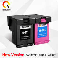 Cmyk 302xl remanufaturado substituição do cartucho para hp 302 hp302 xl cartucho de tinta para deskjet 1110 1111 1112 2130 2131 impressora