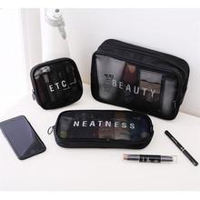 Women Transparent Cosmetic Bag Travel Function Makeup Case Zipper Make Up Box Organizer Storage Pouch Toiletry Beauty Wash Bag