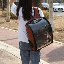 Cat Backpack Carrier Portable Traveler for Pet Small Dog with Space Transparent Vision Cushion-Mat