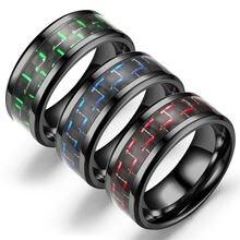Черные красные кольца из титановой стали черные углеродного