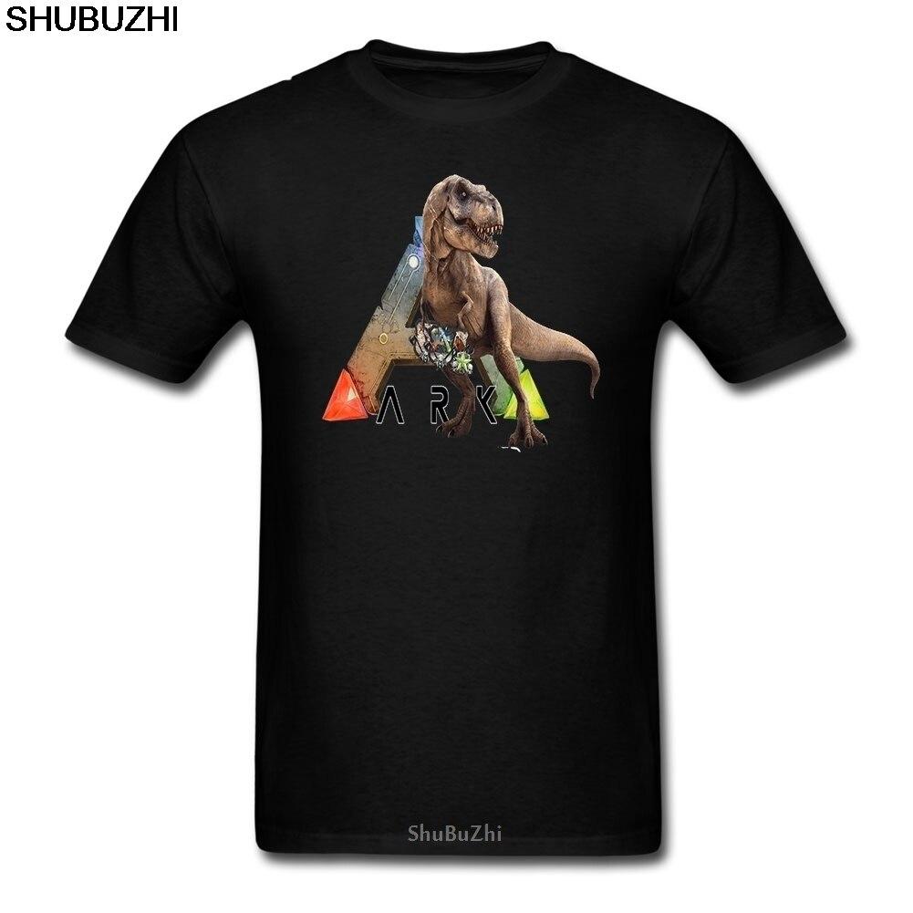 T Hemd Männer Arche T-rex Arche Überleben Entwickelt Casual T-Shirts männer 100% Baumwolle Kurzarm Kleidung Große jugend Navy T Hemd