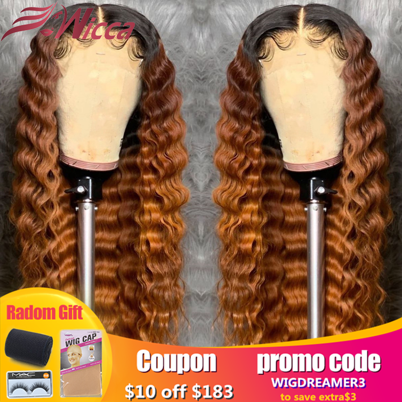 Wicca 13x6 180 Density Lace Front Human Hair Wigs Bleached Knots Pre Plucked For Women Brazilian With Baby Hair Remy Wigs