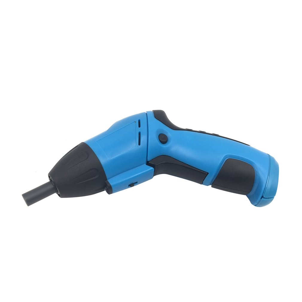 Battery Operated Cordless Electric Screwdriver Driver Bits Drill Blue Home Useful Multi Hand Tool