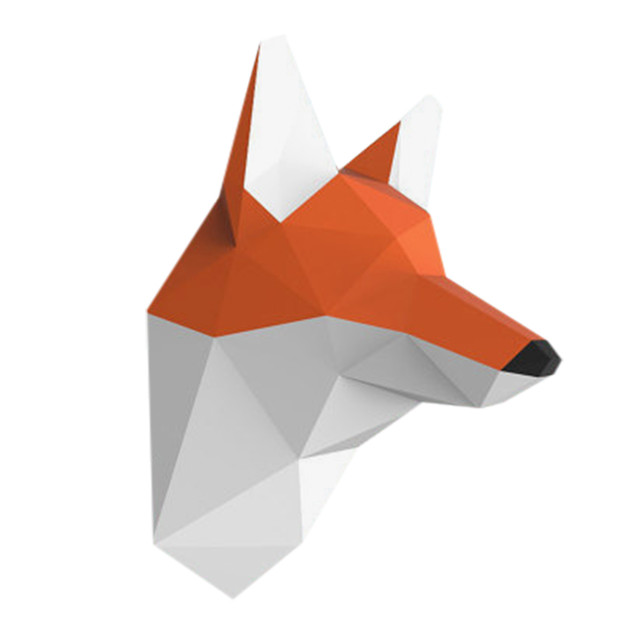 Fox Wall Hanging 3D Paper Model DIY Manual Paper Die Hanging Toy Geometric Origami Three-dimensional Composition Free Shipping 4