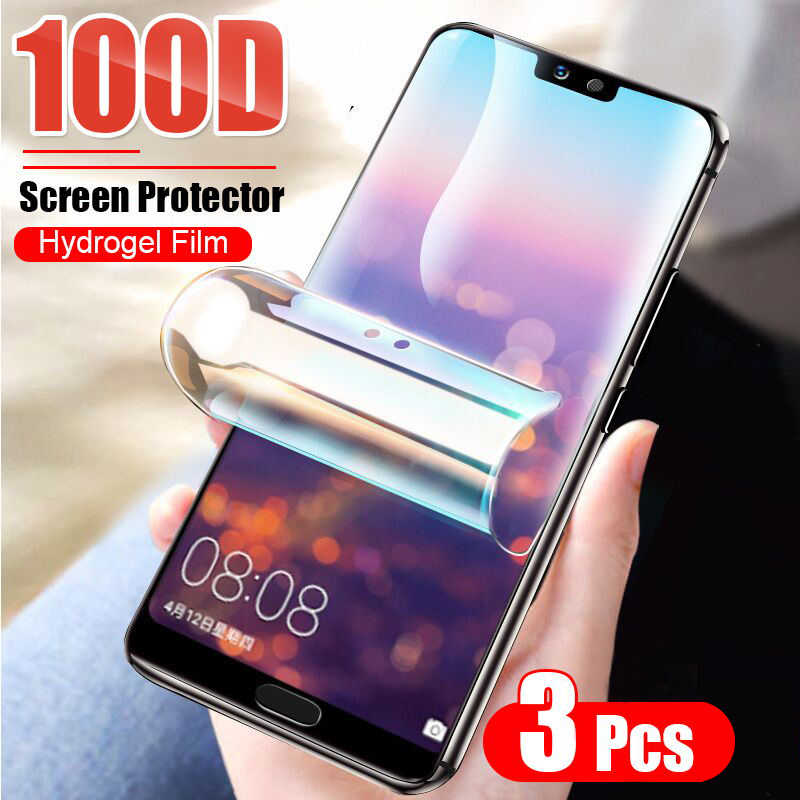 3Pcs Protective Hydrogel Film For Huawei P40 Lite P20 P30 Pro Mate 20 Lite P smart 2019 Nova 5T Screen Protector Film Not Glass 1
