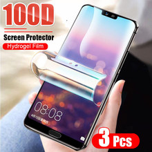 3Pcs Schutz Hydrogel Film Für Huawei P40 Lite P20 P30 Pro Mate 20 Lite P smart 2019 Nova 5T Screen Protector Film Nicht Glas(China)