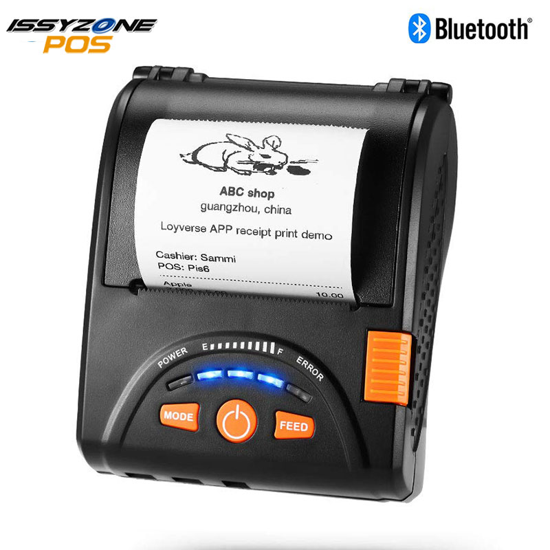 IssyzonePOS Bluetooth Thermal Printer Mobile Mini 58mm Portable Receipt Handheld Pos USB Printers For Android IOS System IMP001