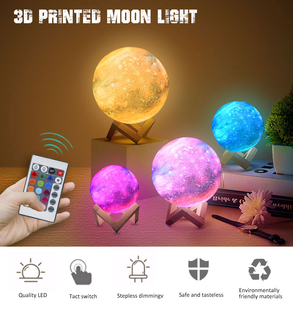 3D Printed Moon Lamp - Avanti-eStore