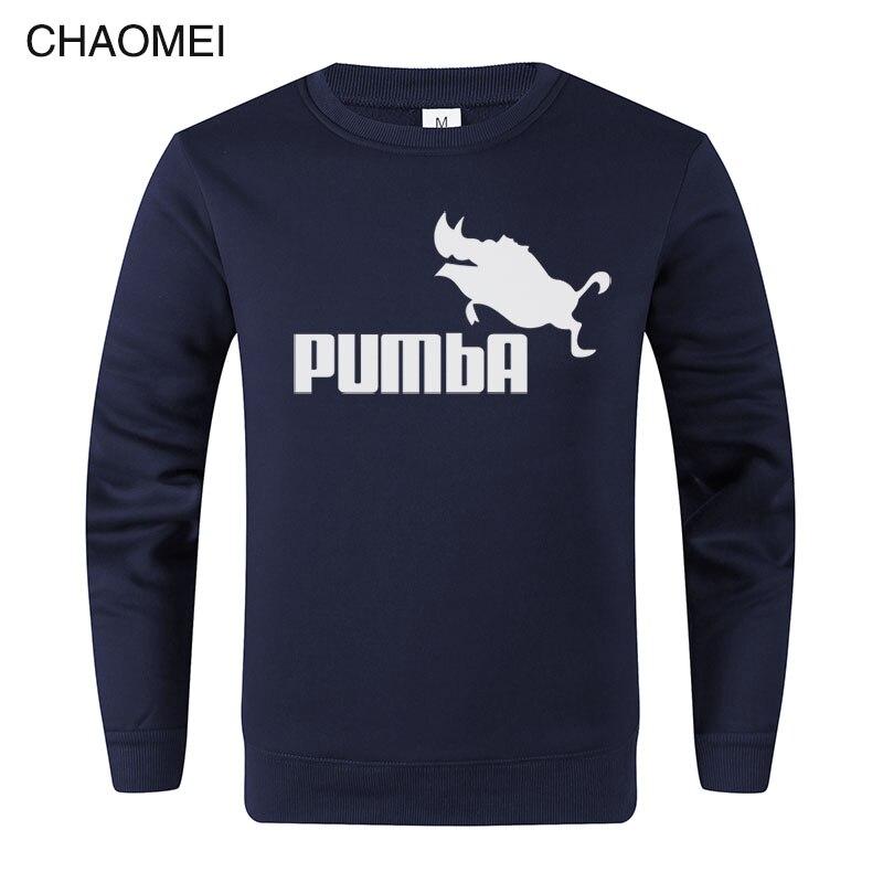 Funny Hoodies Homme Pumba Hoodie Men Women 2019 Long Sleeves Sweatshirt Cool Print Fashion Streetwear Pullover Tops C91