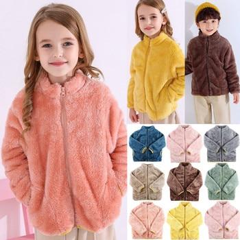 Пальто для детей; Детская одежда; Теплые фланелевые Зимние флисовые куртки для маленьких мальчиков и девочек; Толстовка; Плотные пальто; куртка для девочек