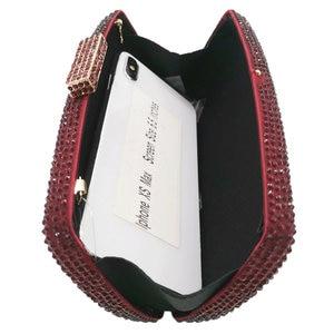 Image 5 - Boutique De FGGไวน์สีแดงเพชรผู้หญิงเย็นกระเป๋าและClutchesสุภาพสตรีค็อกเทลคริสตัลคลัทช์กระเป๋าปาร์ตี้