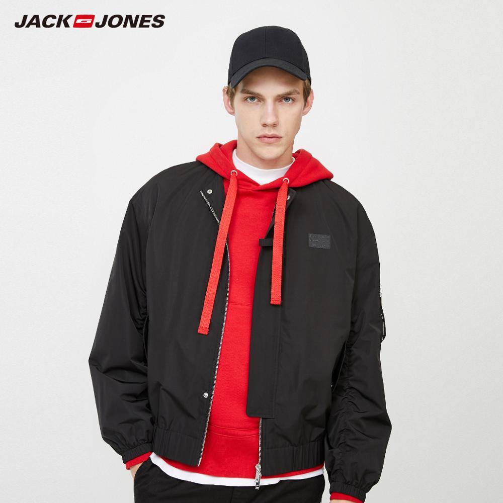 JackJones Men's Pure Color Straight Fit Baseball Collar Fashion Jacket Biker Windproof Men's Jacket Menswear  220121517