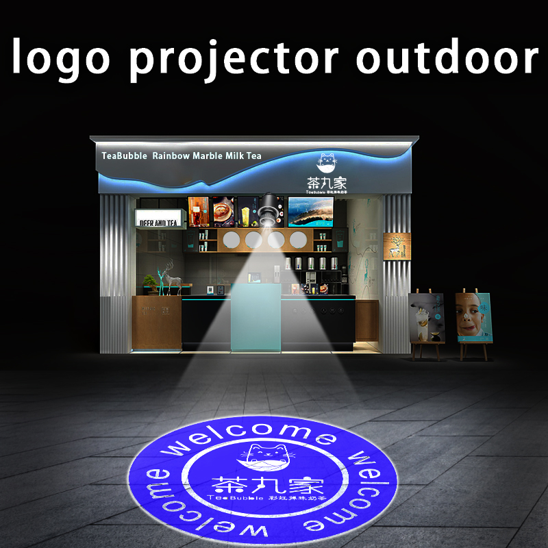 Custom Led Hd Indoor Door Head Projector Outdoor Waterproof Rotating Advertising Image Projection Lamp Gobo Logo Projector