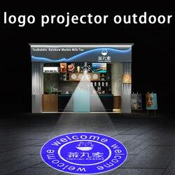 Custom Led Hd Indoor Door Head Projector Outdoor Waterproof Rotating Advertising Image Projection Lamp Gobo Logo Projector