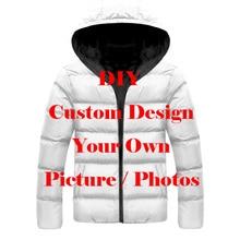 LIASOSO DropShip 3D Print Diy Custom Design Picture Photo Men Women Jacket Plus