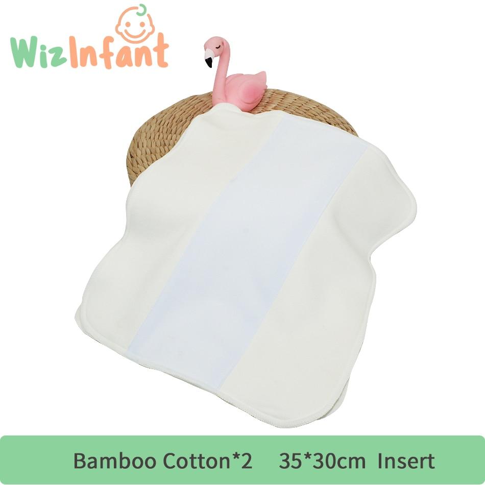 WizInfant 5 шт. бамбуковые хлопковые пеленки вставка Trifold с Stay-Dry Suede ленивый для Onesize Diape карман подгузник 35 см x 30 см