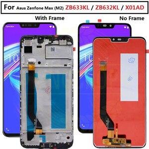 "Image 1 - 6.26 ""สำหรับAsus Zenfone Max M2 ZB633KL/ZB632KL X01ADหน้าจอLCD + DigitizerแผงสัมผัสสำหรับZB633KL x01ADจอแสดงผลกรอบ"