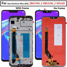 """6.26 """"para asus zenfone max m2 zb633kl/zb632kl x01ad display lcd tela + painel de toque digitador para zb633kl x01ad display com quadro"""