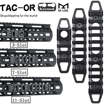 Tactical CNC 3 7 11 Slot 3 7 11 Picatinny Weaver Rail Mount  Keymod M-lok Rail Sections  for Hunting Airsoft Handguard Mount tactical m lok 3 slot picatinny weaver rail segment aluminum mount adapter for mlok handguard forend section 1 5 inch 38mm